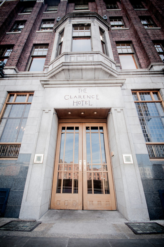 The Clarence Main Entrance